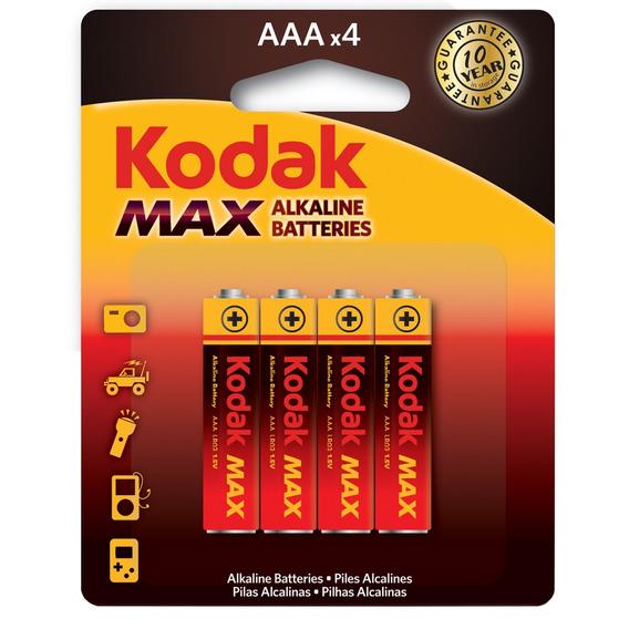 Pilha Aaa Alcalina Max C/4 30157880 Kodak Infotel