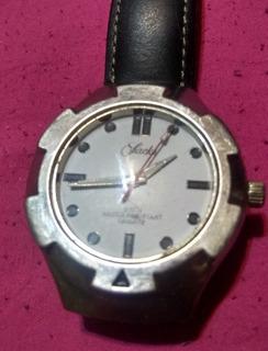 Reloj Sachs Acero Vintage Cuero
