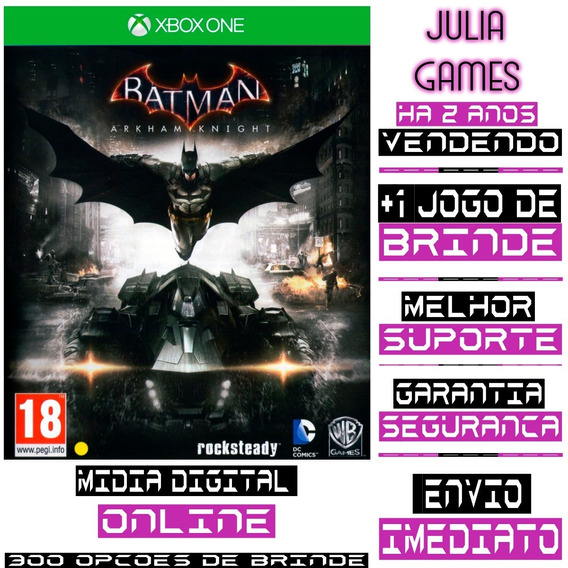 Batman Arkham Knight Xbox One Digital Online + Brinde