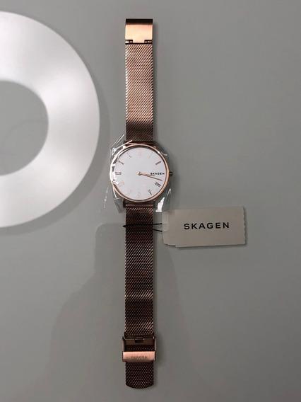 Relógio Skagen Feminino Hald Rosé - Skw2714/1jn