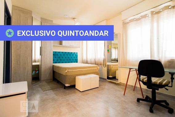 Studio No 2º Andar Mobiliado Com 1 Dormitório - Id: 892956275 - 256275