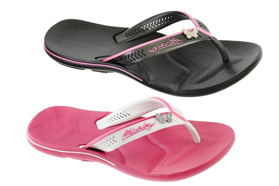 Chinelo Femininas Super Confortavel Com Metal Kit 2 Pares