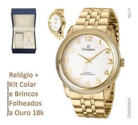 Relógio Champion O R I G I N A L Cn29490h + Kit Brinde + Nf
