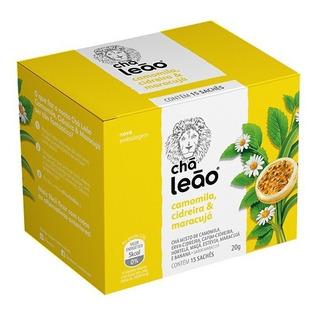Chá Leão - Camomila, Cidreira E Maracujá 15 Sachês