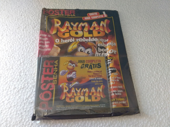 Rayman Gold Pc Game Revista Poster Senha Lacrado