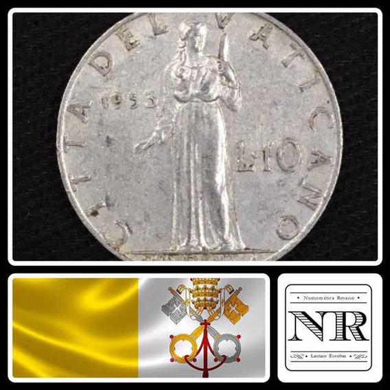 Vaticano - 10 Liras - Año 1953 - Papa Pio Xii - Km# 52.1