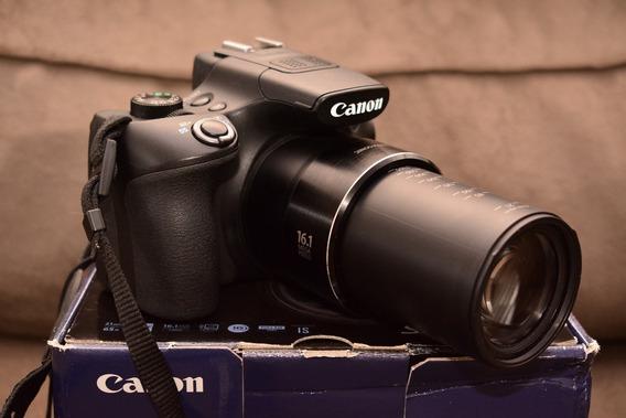 Camera Canon Sx60hs Novinha+cartão 64mb