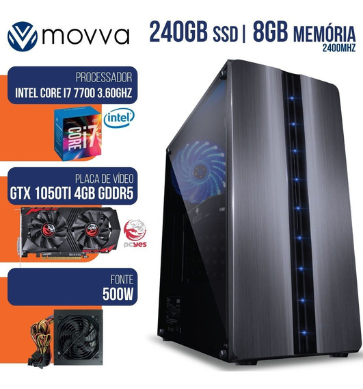 Computador Gamer Mvx7 Intel I7 7700 3.6 Ghz Mem.8gb Ddr4 Ssd