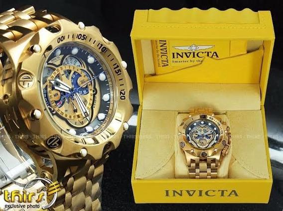 Relógio Invicta Reserve Venom 16804 Hybrid Banhado A Ouro
