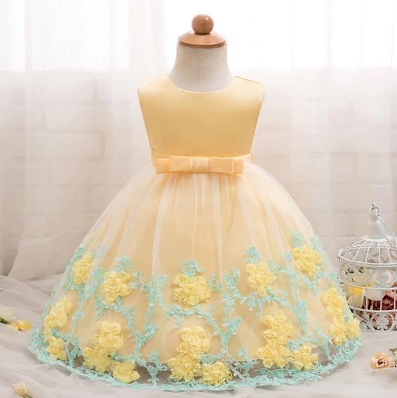 Vestido Menina Chuva De Amor Benção Aniversario Passarinhos Jardim Encantado