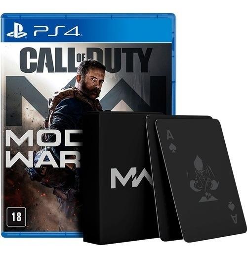Call Of Duty Modern Warfare Ps4 + Baralho + Poster