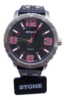 Reloj Stone Hombre Análogo Cuero Con Garantía Agente Oficial