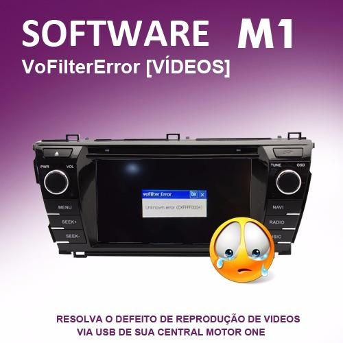 Software Correção De Erro Videos Central M1 - Vofilter Error