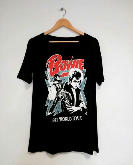 Remeron Mujer David Bowie Con Aplique Cadena