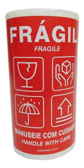 Etiqueta Selo Frágil 11x15cm 100 Etiquetas