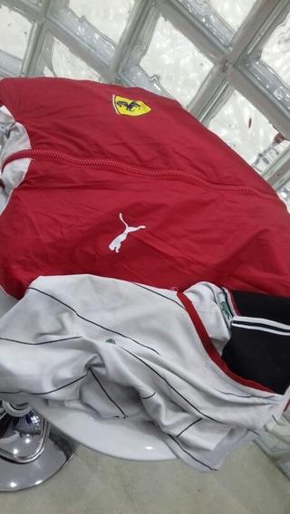 Blusa De Frio Ferrari E Camiseta Lacoste
