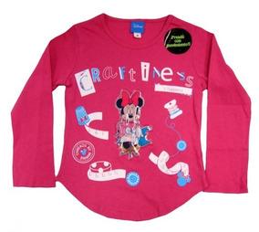 2 Playeras Infantil Minnie Mouse Con Luces En Movimiento Ori