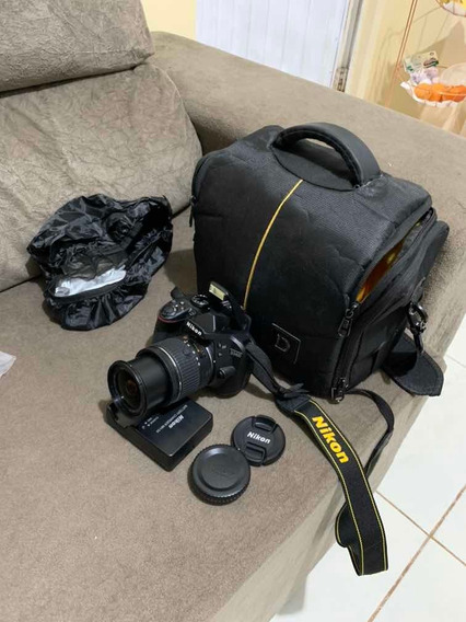 Camera Nikon D3400 Dslr Com Lente 18-55 Mm + Bag + Card 64gb