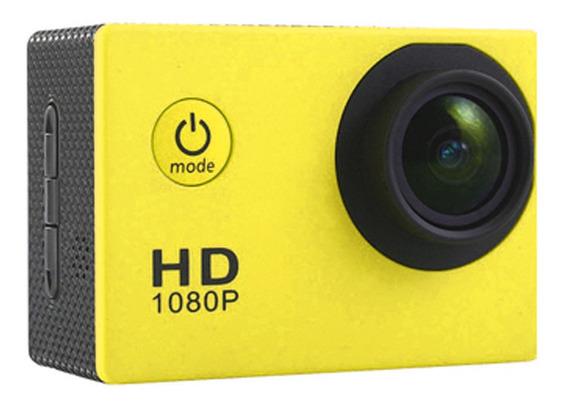 Câmera De Ação Impermeável Amarelo