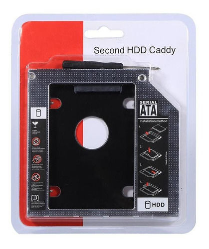 Caddy De Disco Rígido Sata 2nd Hdd Sdd De 9.5mm Para Laptop