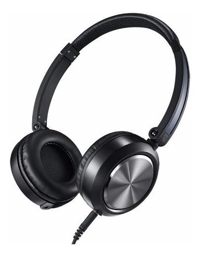 Fone De Ouvido Headphone On-ear Yoga Cd-46 Preto