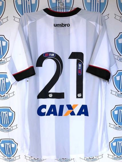 Atlético Paranaense 2015 Umbro G # 21 Usada Jogo Por Ewandro