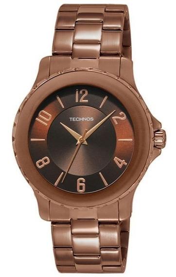 Relógio Technos 2035llv/1m Feminino Chocolate