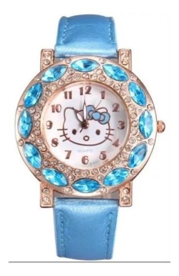 Relógio Hello Kitty Com Strass (promoção)