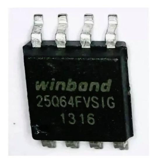 25q64fvsig - Eprom 25q64 Bios Ci Virgem Winbond - 5 Peças