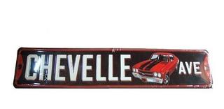 Placa Decorativa Metálica Original Chevrolet Chevelle 70 71