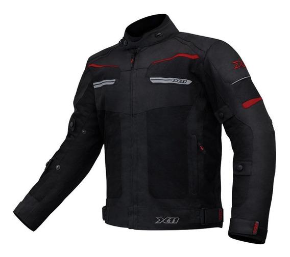 Jaqueta Moto Ventilada Motoqueiro X11 Breeze Com Proteção Nf