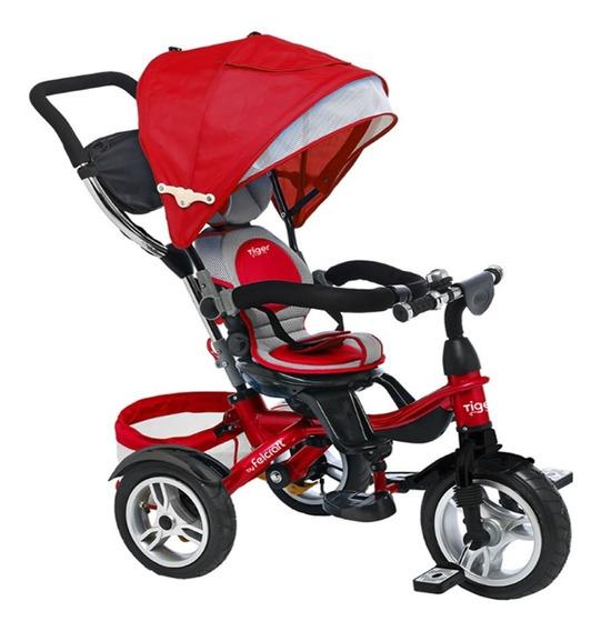 Triciclo Infantil Bebe Asiento Giratorio 360 Reforzado Manija Bolso Canasto