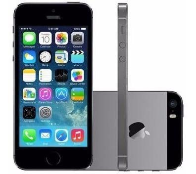Imagem 1 de 5 de iPhone 5s Apple 32gb Cinza Espacial Tela 4  Retina - Câmera