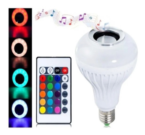 Imagen 1 de 7 de 3 X Ampolleta Led Bluetooth Parlante Lámparamulticolorfiesta