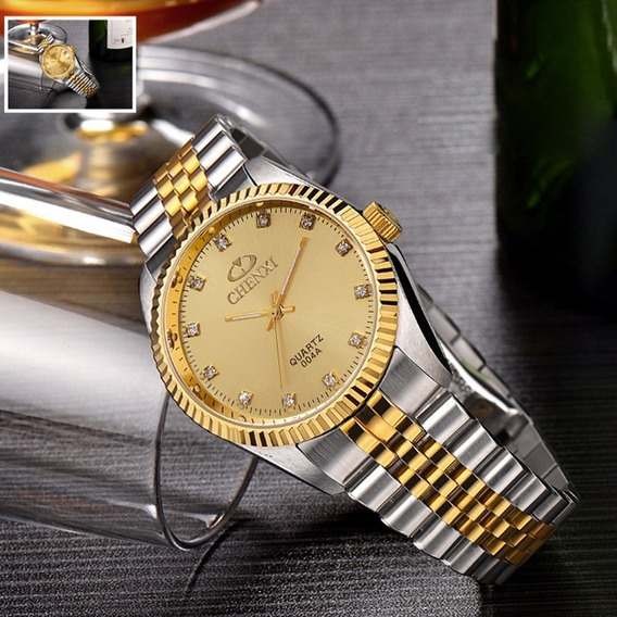 Relógio Pulseira De Aço Feminino Chenxi À Prova D