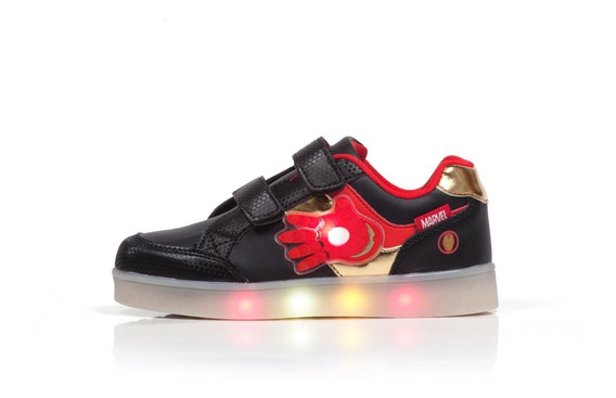 Zapatillas Led Atomik Marvel Casual Luces Ironman