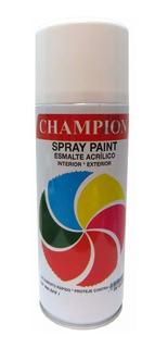 Pintura En Spray Champion Blanco Y Negro Mate Super Formica