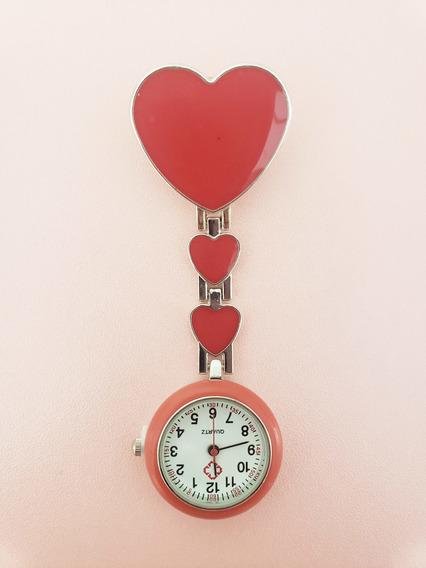 Reloj Enfermera Rojo Corazon