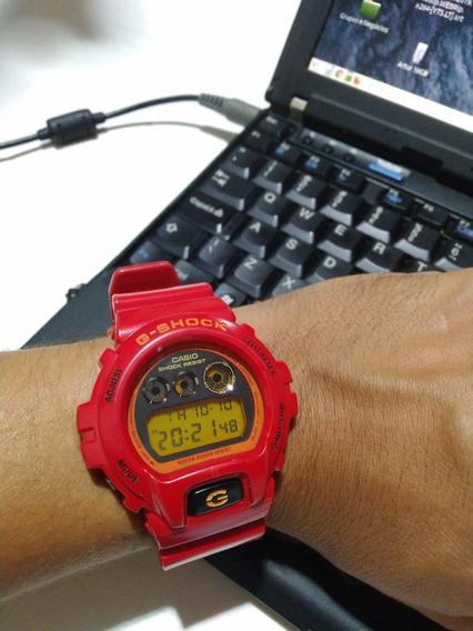 Relógio Casio G-shock Dw-6900 Vermelho Original