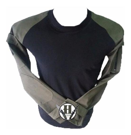 Remera Tactica Combat Shirt Us Verde Od Rip Stop Gendarmeria