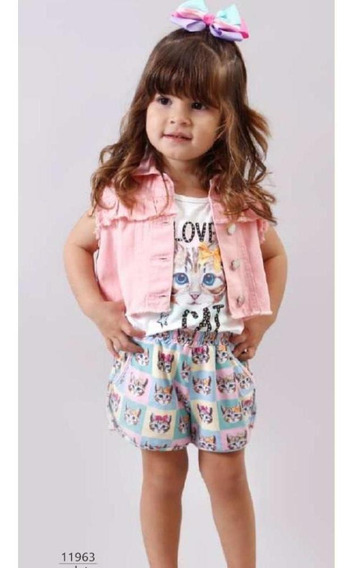 Conjunto Infantil Love Cat Bambollina