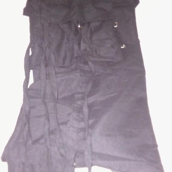 Pantalón De Microfibra Con Tiras.