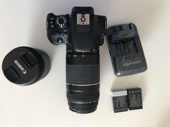 Câmera Cânon Sl1 + 2 Lentes