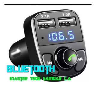 Transmisor Fm Bluetooth Cargador Carro Mp3