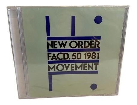 New Order  Movement Cd Europeo [nuevo]
