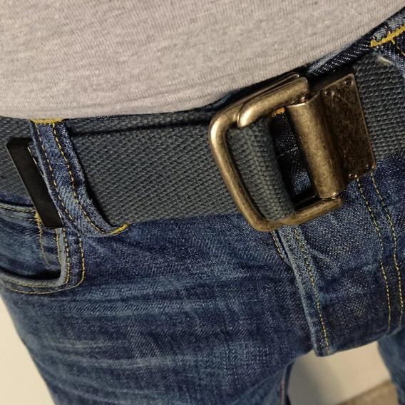 Cinturón Gris Marca Mecánico Jeans