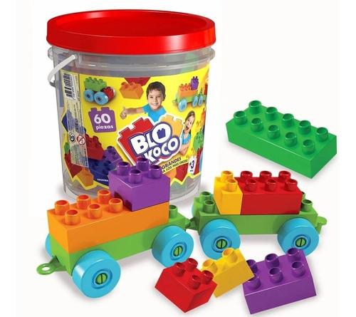 Balde Blocks Ladrillos Chicos Por 60 Piezas Blokoco 01-0254