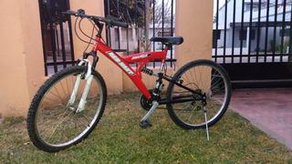 Bicicleta Red Hart Con Doble Amortiguador R26