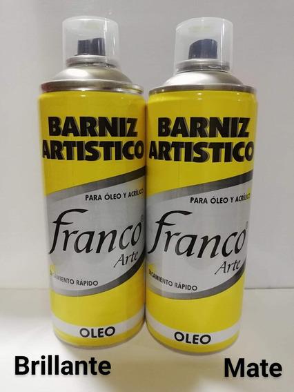Barniz En Spray Para Pintura Al Oleo Mate Y Brillante