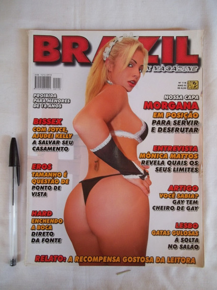 Revista Brazil Sex Magazine Nº 118 Morgana Ótima Veja Leia